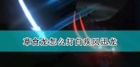 《怪物猎人物语2:毁灭之翼》草食龙打白疾风迅龙技巧分享