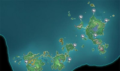 原神甘金岛浪船锚点怎么开 原神甘金岛浪船锚点地图位置介绍