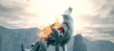 怪物猎人崛起天照白狼幻化特殊效果图示