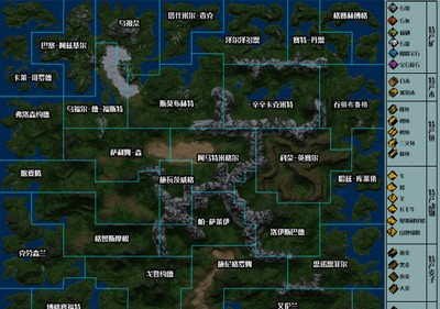 领地人生MMO特产与安全区分布地图一览