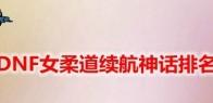 DNF女柔道续航神话排名